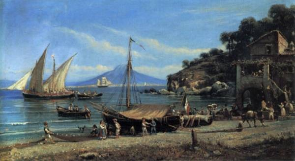 Figures on a Beach Near Naples